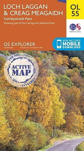 9780319469736: OS Explorer ACTIVE OL55 Loch Laggan & Creag Meagaidh, Corrieyairack Pass (OS Explorer Map Active)