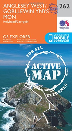 9780319471340: OS Explorer Map Active (262) Anglesey West (OS Explorer Active Map)