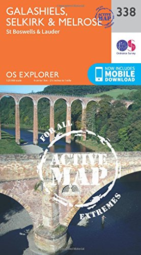 9780319472101: Galashiels, Selkirk and Melrose (OS Explorer Active Map)