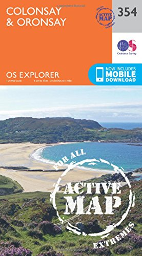 9780319472255: Colonsay and Oronsay (OS Explorer Active Map)