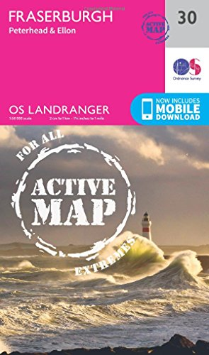 Landranger Active (30) Fraserburgh, Peterhead & Ellon (OS Landranger Active Map): Ordnance ...
