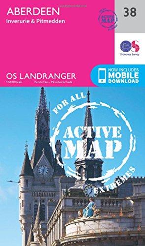 Landranger Active (38) Aberdeen, Inverurie & Pitmedden (OS Landranger Active Map) (Map)