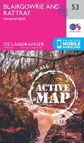 Landranger Active (53) Blairgowrie & Forest of Alyth (OS Landranger Active Map) (Map)