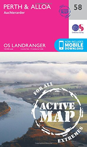 Landranger Active (58) Perth & Alloa, Auchterarder (OS Landranger Active Map): Ordnance Survey