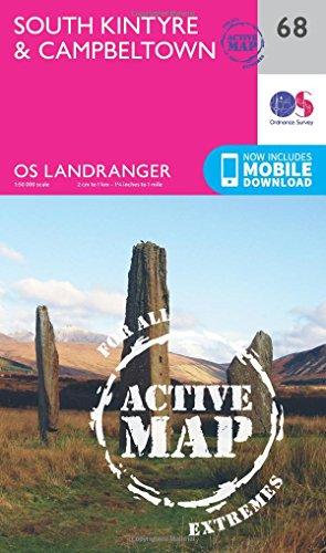 Landranger Active (68) South Kintyre & Campbeltown (OS Landranger Active Map): Ordnance Survey