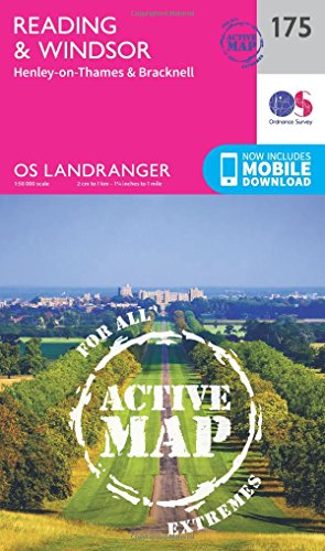 Reading, Windsor, Henley-on-Thames & Bracknell (OS Landranger Active Map): Ordnance Survey