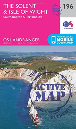 Landranger Active (196) The Solent & the Isle of Wight, Southampton & Portsmouth (OS ...