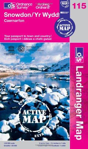 9780319480380: Snowdon / Yr Wyddafa, Caernarfon (OS Landranger Map Active) (OS Landranger Active Map)