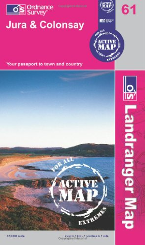 9780319481035: Jura & Colonsay (OS Landranger Active Map)