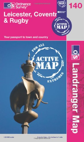9780319481721: Leicester, Coventry & Rugby (OS Landranger Active Map)