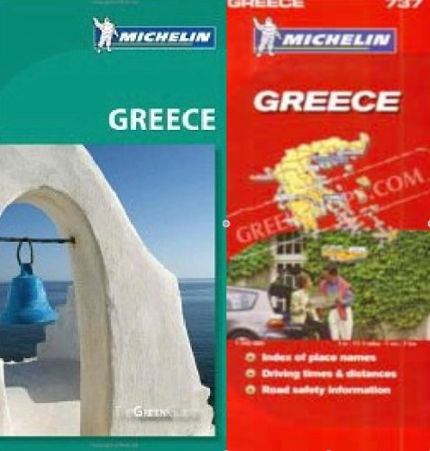 9780320037566: Michelin Greece Green Green Guide Pack - Guide in English plus Map