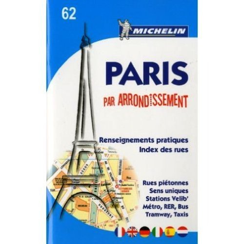 9780320041150: Michelin Map No 62 Paris by Arrondissements Pocket Atlas, with Street Map and Index (Michelin Guides and Maps) (French Edition)