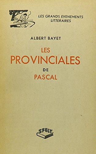 9780320050541: Les Provinciales De Pascal (sfelt)