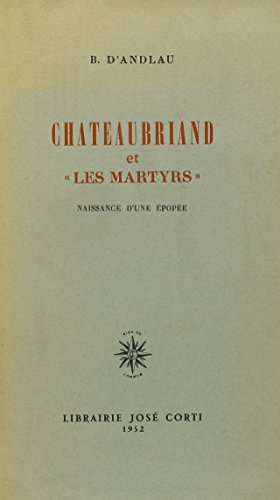 9780320053238: Chateaubriand Et 'les Martyrs' (French Edition)