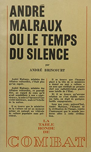 9780320055058: Andre Malraux Ou Le Temps Du Silence (French Edition)
