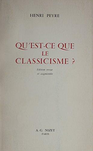 9780320056697: Le Classicisme Francais