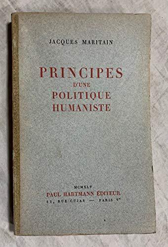 9780320058738: Principes D'une Politique Humaniste (French Edition)