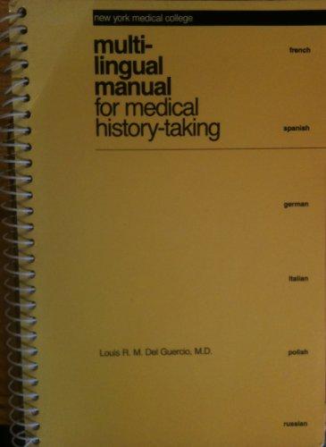 9780320060588: Multi-lingual Manual For Medical History Taking