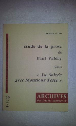 9780320061240: Etude de la Prose de Paul Valery dans