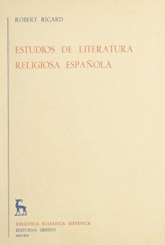 9780320061479: Estudios De Literatura Religiosa Espanola/religious Spain Literature Studies