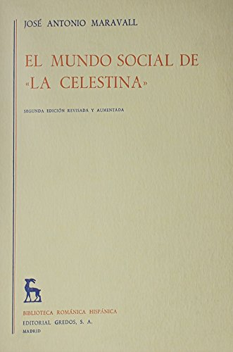 9780320061486: El Mundo Social De La Celestina/the Social World Of Celestina