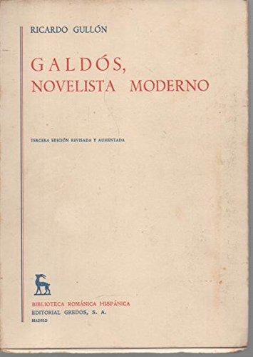 9780320061905: Galdos, novelista moderno / Galdos, Modern Novelist