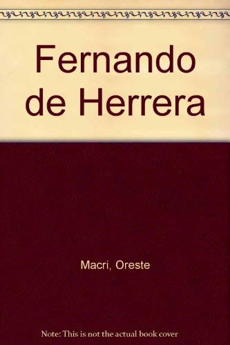9780320061974: Fernando de Herrera
