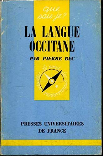 9780320062520: La Langue Occitane (French Edition)
