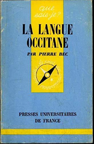 9780320062520: La Langue Occitane (French Edition)