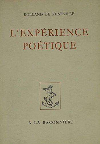 9780320062742: L'experience Poetique