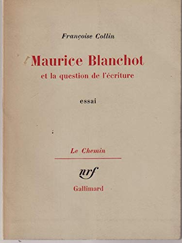 9780320063312: Maurice Blanchot Et La Question De L'ecriture