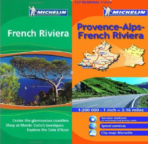 9780320080661: Michelin French Riviera Cote d'Azur Pack - Green Guide in English plus map