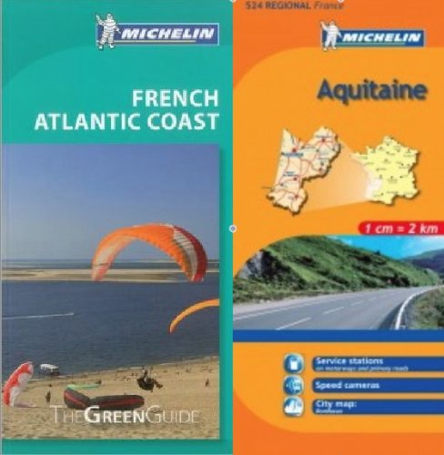 9780320080708: Michelin Green Guide to Atlantic Coast (Bordeaux/Aquitaine) in English plus Map