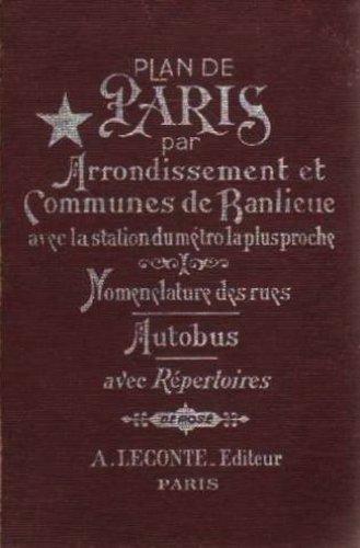 9780320081590: Plan de Paris par arrondissements et communes de banlieue