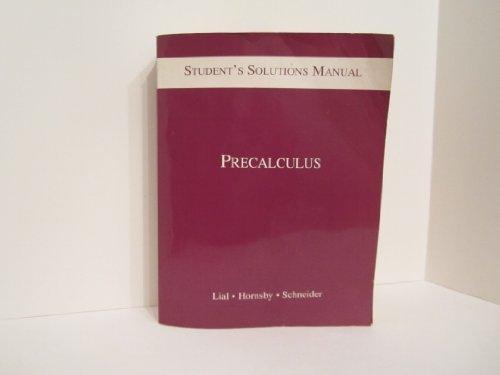 9780321009692: Precalculus: Student's Solution Manual