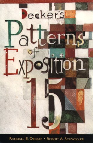 9780321012180: Decker's Patterns of Exposition (15th Edition)