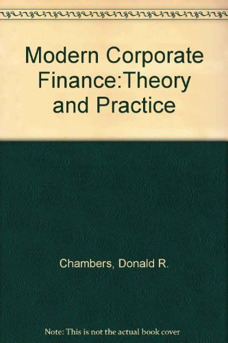 9780321014474: Modern Corporate Finance: Theory and Practice (2nd Edition)