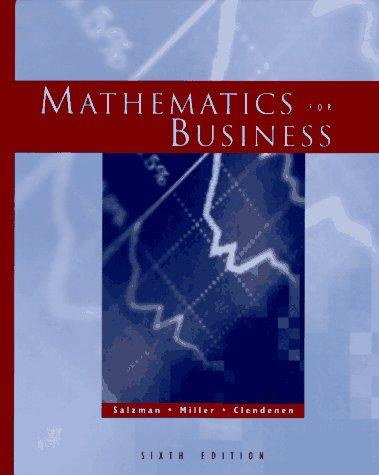 Mathematics for Business: Stanley A. Salzman,