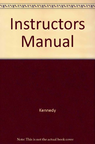 Instructor's Manual to accompany An Introduction to: X. J. Kennedy