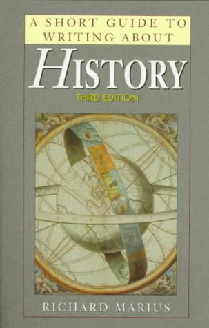 9780321023872: A Short Guide to Writing About History (Short Guide Series)
