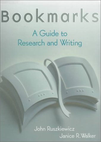 9780321023933: Bookmarks: A Guide to Research and Writing