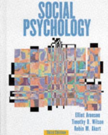 Social Psychology: Elliot Aronson, Timothy