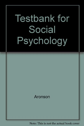 9780321024381: Testbank for Social Psychology