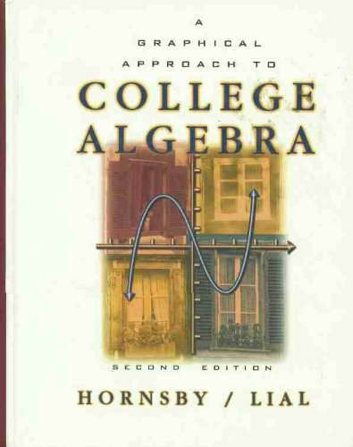 9780321028471: A Graphical Approach to College Algebra