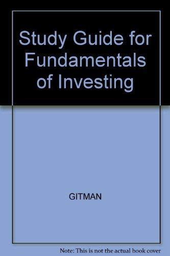 9780321037473: Study Guide Fundamentals of Investing