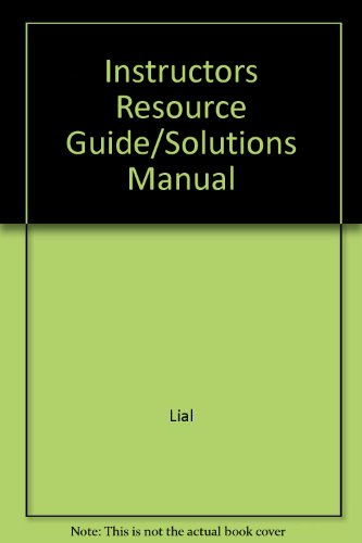 9780321039545: Instructors Resource Guide/Solutions Manual