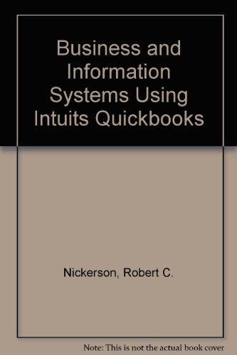 9780321041388: Business and Information Systems Using Intuit's Quickbooks