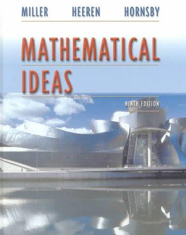 9780321043245: Mathematical Ideas (9th Edition)