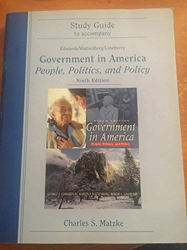 9780321048400: Government in America (Study Guide to Accompany)