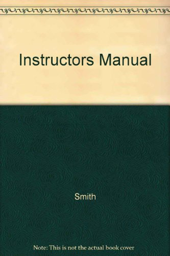 Instructors Manual: Smith , Brenda D.